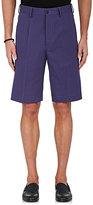 Caruso Men's Cotton-Linen Herringbone Shorts