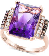 Effy Final Call by Amethyst (6 ct. t.w.) & Diamond (1/4 ct. t.w.) Ring in 14k Rose Gold