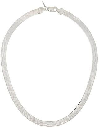 Loren Stewart Herringbone sterling silver necklace
