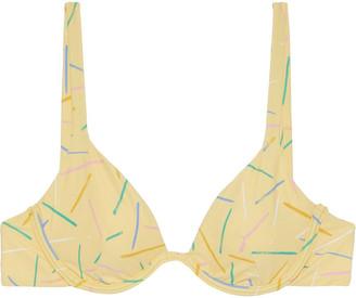 Onia Anna Printed Bikini Top