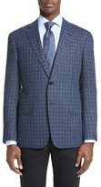 Armani Collezioni Men's Trim Fit Check Sport Coat