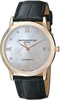Baume & Mercier Women's A10077 Classima Analog Display Swiss Automatic Black Watch
