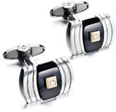 Dolan & Bullock Dolan Bullock Men's Sterling Silver and 14k Gold Cuff Links, Onyx (10-3/4 ct. t.w.) and Diamond (1/2 ct. t.w.) Cuff Links
