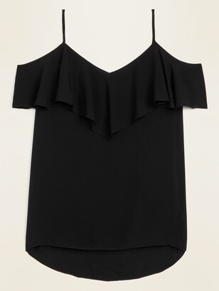 Old Navy Soft-Woven Ruffled Cold-Shoulder Cami for Women