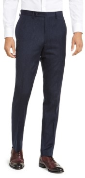 Calvin Klein Men's X-Fit Slim-Fit Stripe Flannel Suit Pants