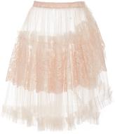 Rodarte Metallic Tulle Wrap Skirt