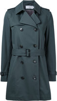 Closed double-breasted trench coat