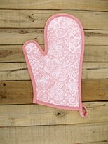 "VLiving Glove Quilted Oven Mitts Lace Print Kitchen Accessory 100% Cotton Size 8""x13"""