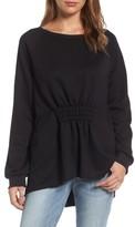 Gibson Petite Women's Gathered Front Sweatshirt
