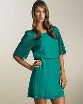 Tiered Blouson Dress