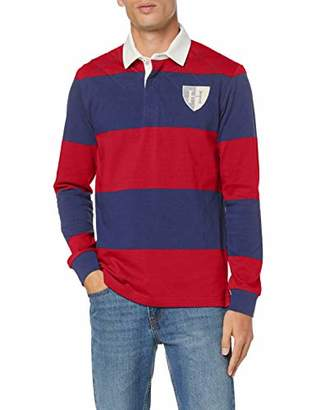 Hackett London Men's's Quilt Str Rby Polo Shirt,XX-Large