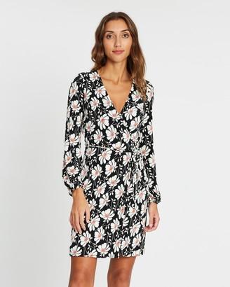 Wallis Modern Floral Jersey Wrap Dress