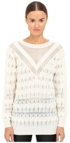 M Missoni Solid Long Sleeve Top Women's Clothing