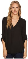 Stetson 1403 Solid Poly Crepe Peasant Top Women's Long Sleeve Pullover