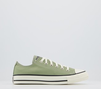 Converse All Star Low Trainers Street Sage Egret Black Floral Exclusive