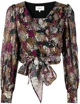 Thumbnail for your product : BA&SH Leia floral-print wrap blouse