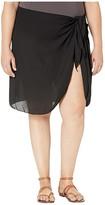 Dotti Plus Size Summer Short Sarong Pareo Cover-Up (Black) Women's Swimwear
