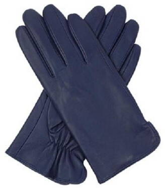 Dents Classic Full Grain Leather Gloves Navy