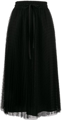 RED Valentino RED(V) point d'esprit pleated skirt