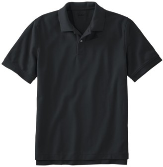 L.L. Bean Men's Premium Double L Polo, Short-Sleeve Without Pocket, Traditional Fit