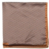 Robert Talbott Men's Geometric Silk Pocket Square