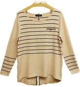 August Silk Beige Stripe Sweater