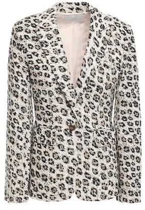 Joie Leopard-print Linen-canvas Blazer
