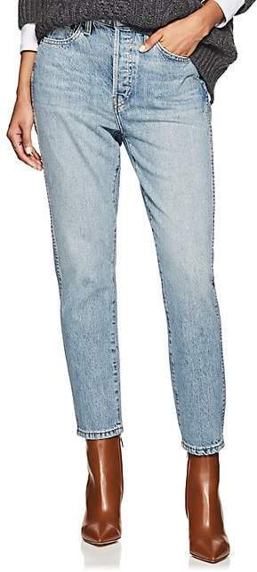 RE/DONE Women's Double Needle Crop Jeans - Lt. Blue