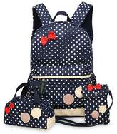 Greeniris Cute Girl Backpacks Women School Bag 3 Pieces Set