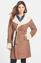 UGG® Australia 'Andeliane' Genuine Shearling Wrap Coat