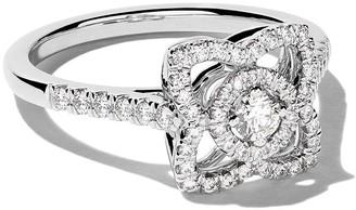 De Beers 18kt white gold Enchanted Lotus diamond ring