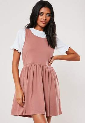 Missguided Blush T Shirt Overlay Smock Dress