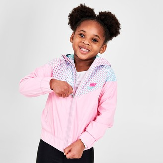 Nike Girls' Little Kids' Sportswear Printed Windrunner Jacket