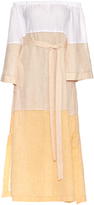 Lisa Marie Fernandez Off-the-shoulder linen dress