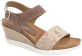 Cordani &Aiden& Snake Embossed Wedge Sandal (Women)