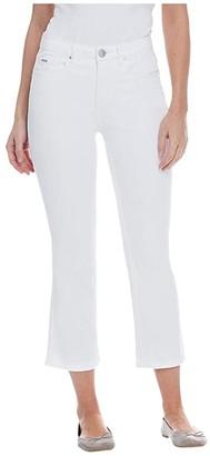 FDJ French Dressing Jeans Sunset Hues Denim Olivia Flare Crop in White (White) Women's Jeans