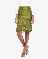 Ann Taylor Botanical Lace Pencil Skirt