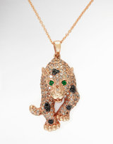 Black Diamond EFFY COLLECTION White and Leopard Pendant in 14 Kt. Rose Gold
