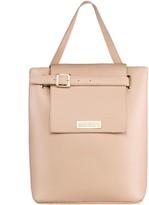 Maria Maleta Bucket Shoulder Bag in Pink Blush Nude