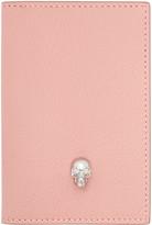 Alexander McQueen Pink Skull Pocket Organizer
