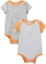Boppy Elephant Bodysuits - Set of 2 (Baby Boys)