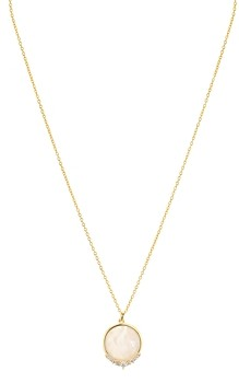 Argentovivo Pave & Mother-of-Pearl Circle Pendant Necklace, 16-18