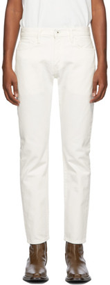 Levis Made and Crafted White 502 Taper Jeans