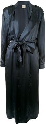 Le Kasha Buchara silk trench coat