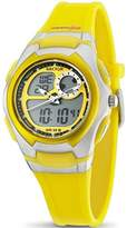 Sector Women's Digital Watch with LCD Dial Digital Display and Yellow PU Strap R3251172039