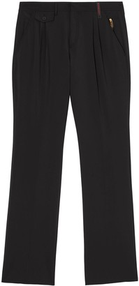 Burberry Zip Detail Pleated Trousers