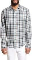 Vince Slim Fit Plaid Sport Shirt