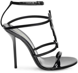 Saint Laurent Cassandra Patent Leather Sandals