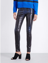 Diesel Waxed coated skinny mid-rise jeans
