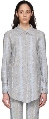 Acne Studios Blue Jacquard Jersey Shirt